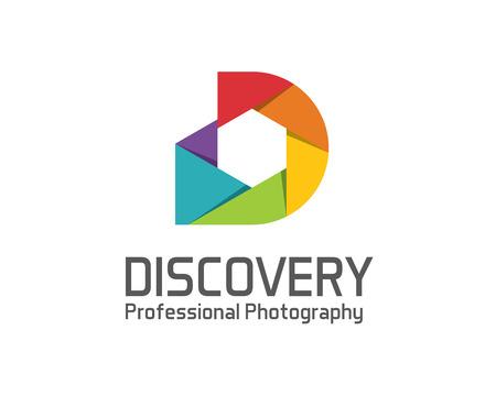 Fotografie logo design vektorové šablony. Objektiv fotoaparátu symbol vektor. Digital Photo konstrukce vektoru. Jednoduchý čistý design fotografie logo vektor. Ilustrace