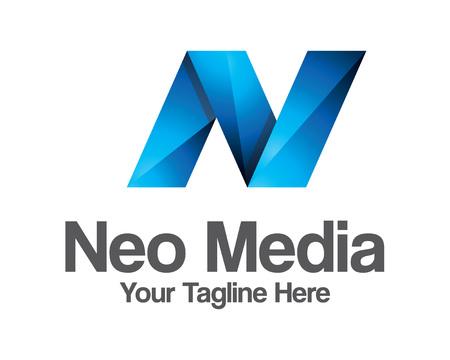 N: Business corporate letter N logo design vector.  Illustration