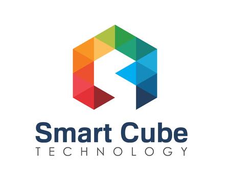 arco iris: Negocios carta corporativa S logotipo de diseño vectorial.