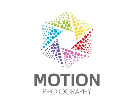 Abstract photography logo design .