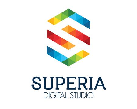 Collectief letter S logo ontwerp vector.