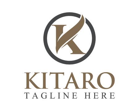 Negocios letra K logotipo corporativo de diseño vectorial.