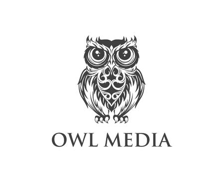 Owl logo design vector template.