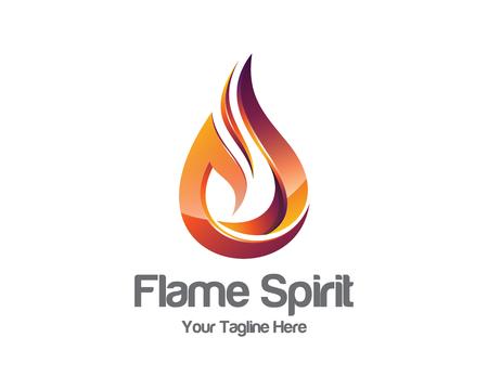 llamas de fuego: Plantilla de logotipo de la llama. Vectores