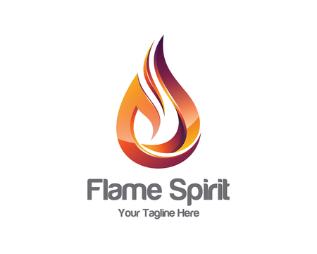 Flame logo template.  Illustration