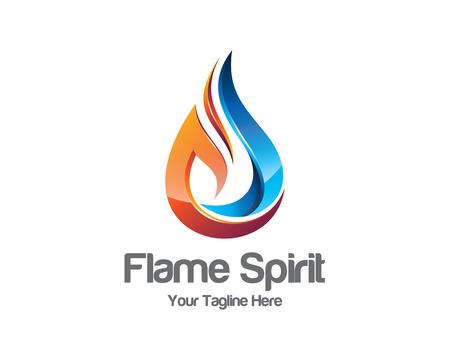 blue flame: Flame logo template.  Illustration
