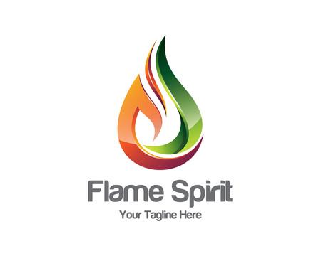 flame logo: Flame logo template.  Illustration