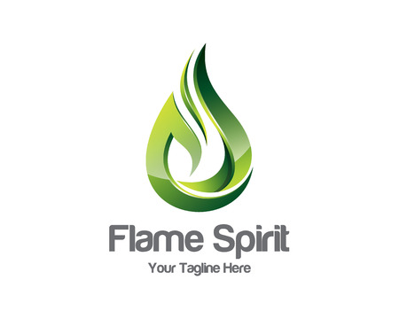 flame: Flame logo template.  Illustration