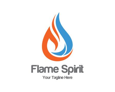 flames: Plantilla de logotipo de la llama. Vectores