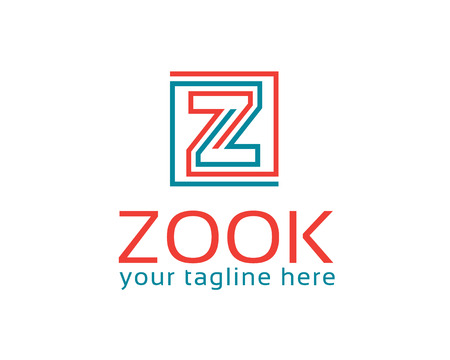 business letter: Business corporate letter Z logo design template.