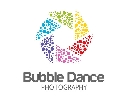 photography logo: Abstract photography logo design .  Illustration