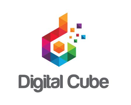Negocio corporativo letra D logotipo de diseño vectorial.