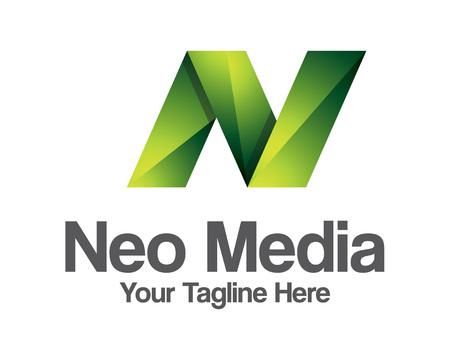 Geschäftsunternehmensbuchstabe N Logo-Design Vektor. Logo