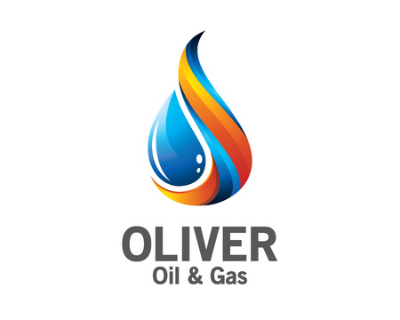 droplets: 3D oil and gas logo design. Colorful 3D oil and gas logo vector template. oil and gas concept with 3D style design vector. Illustration