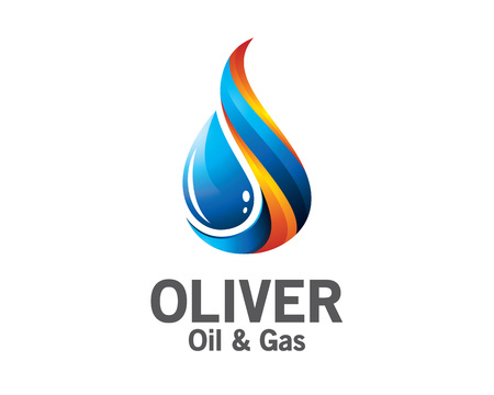 oil industry: 3D oil and gas logo design. Colorful 3D oil and gas logo vector template. oil and gas concept with 3D style design vector. Illustration