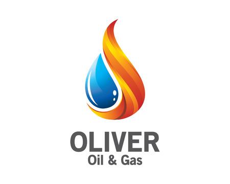 aceite de 3D y diseño del logotipo de gas. la plantilla de vectores logotipo de petróleo y gas 3D colorido. concepto de petróleo y gas con el estilo de diseño de vectores 3D. Logos