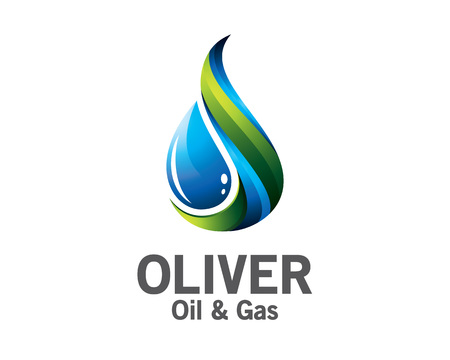 3D olie en gas logo ontwerpen. Kleurrijke 3D-olie en gas logo vector template. olie en gas concept met 3D-stijl ontwerp vector.