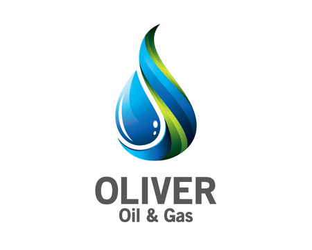 3D oil and gas logo design. Colorful 3D oil and gas logo vector template. oil and gas concept with 3D style design vector. 向量圖像