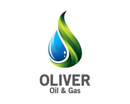 logos de empresas: aceite de 3D y diseño del logotipo de gas. la plantilla de vectores logotipo de petróleo y gas 3D colorido. concepto de petróleo y gas con el estilo de diseño de vectores 3D.