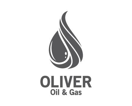 olio 3D e la progettazione del logo del gas. Colorful 3D modello di vettore di petrolio e gas logo. concetto di petrolio e gas con un design in stile 3D vettoriale.