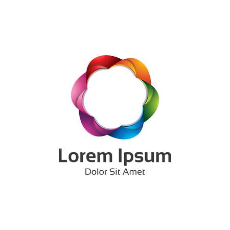 bucle: Icono colorido del remolino. logo icono bucle infinito brillante círculo abstracto. Espectro círculo de signo. icono del arco iris