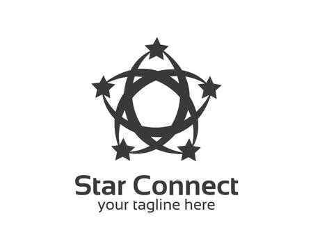 simple logo: Abstract star business identity logo template. Star vector logo design branding corporate identity. Simple modern star vector . Illustration