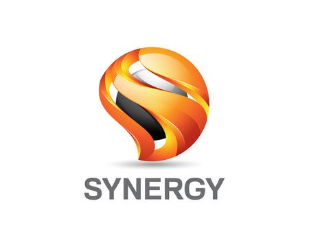Lettre 3D S logo. Colorful 3D lettre S modèle logo vectoriel. Lettre S notion de vecteur de conception de style 3D. Banque d'images - 54697573
