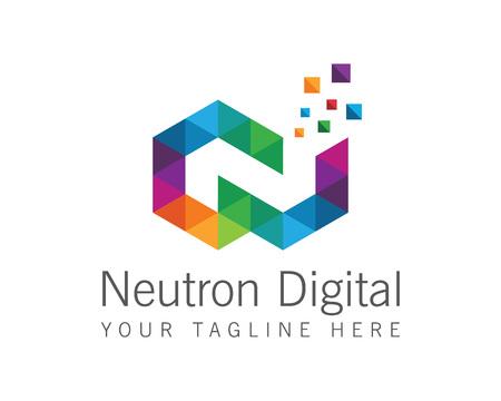 Geschäftsunternehmensbuchstabe N Logo-Design Vektor. Bunte Buchstaben N-Logo-Vektor-Vorlage. Buchstabe N Logo für die Technik.