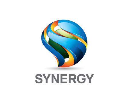 lettera progettazione 3D S logo. Colorful 3D lettera S logo modello vettoriale. Lettera S concetto con design in stile 3D vettoriale.
