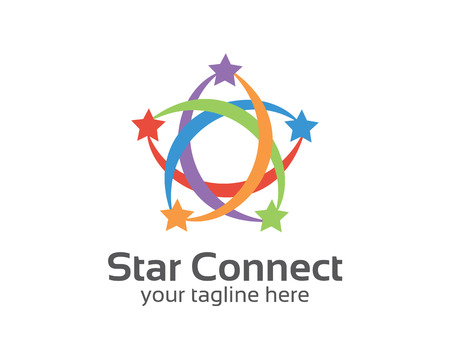 Abstract star business identity logo template. Star vector logo design branding corporate identity. Simple modern star vector .  イラスト・ベクター素材