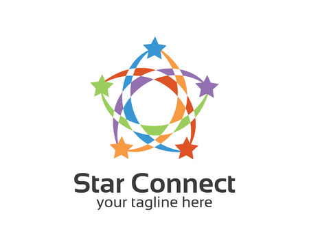 accounting logo: Abstract star business identity logo template. Star vector logo design branding corporate identity. Simple modern star vector . Illustration