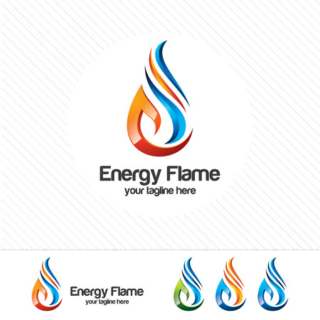 3D oil and gas logo design. Colorful 3D oil and gas logo vector template. oil and gas concept with 3D style design vector.  イラスト・ベクター素材