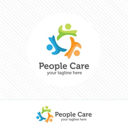 logotipo de la gente abstracta. Social red de medios insignia de la gente del vector.