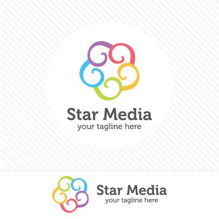 simple logo: Abstract star logo template. Star vector logo design branding corporate identity. Simple modern star vector . Illustration