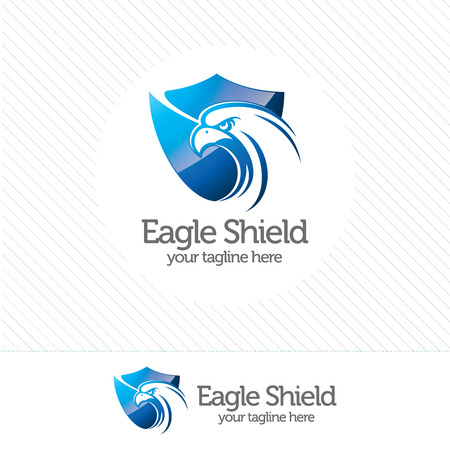 security symbol: Eagle shield security logo , abstract symbol of security. Shield protection logo vector. Illustration