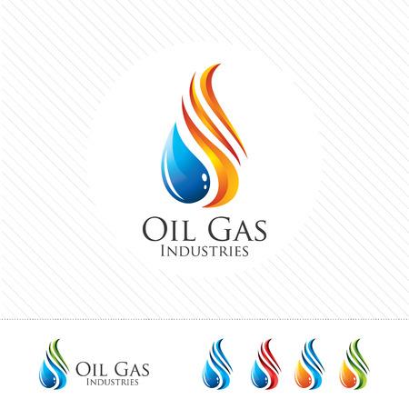 3D projektowania ropy i gazu. Kolorowe 3D szablon ropy naftowej i gazu. Koncepcja ropy i gazu ze stylem projektowania 3D wektora. Ilustracje wektorowe
