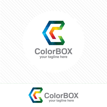 business letter: Business corporate letter C design. Colorful letter C template. Letter C for technology.