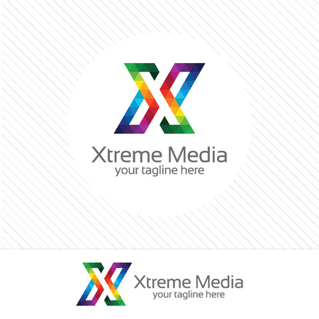 letter x: Business corporate letter X design. Colorful letter X template. Letter X for technology.