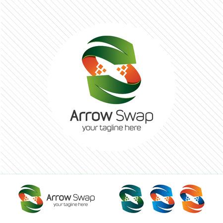 arrow circles: Abstract letter S arrow Illustration
