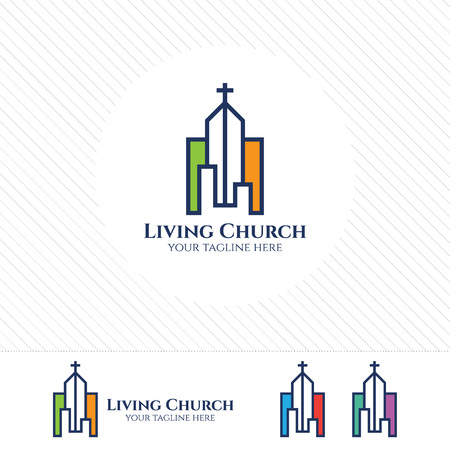 Cross vector logo design template. Church logo design for Christian organizations .