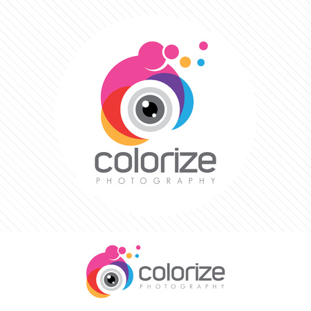 Abstract colorful photography icon vector.
