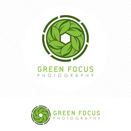 Simple modern nature photography icon.