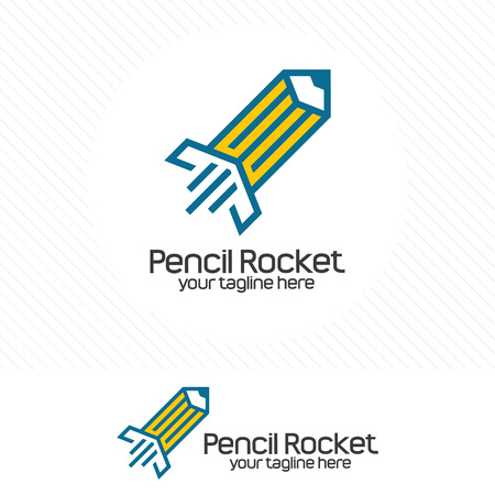 Pencil rocket. Creative for designer, agency, writer, and studio.