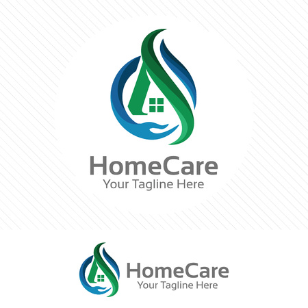 Home care, property and real estate concept with hand symbol.