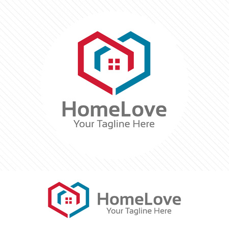 Home love, property and real estate concept with love symbol.