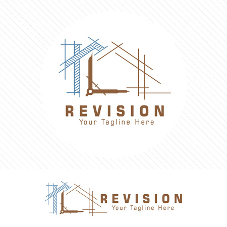 Architect house, architectural and construction design vector. 向量圖像