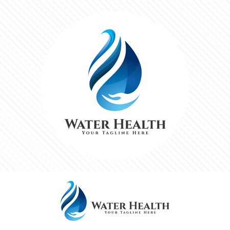 Water drop,  green ecology and fresh water concept design vector. 向量圖像