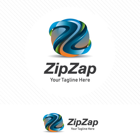 Letter z, colorful and modern design concept with 3d style .