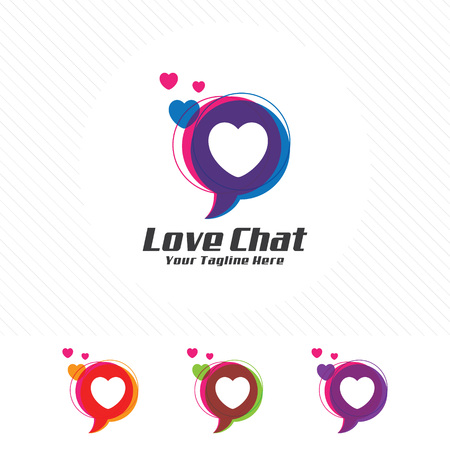 Colorful chat design , message vector with clean and modern style.