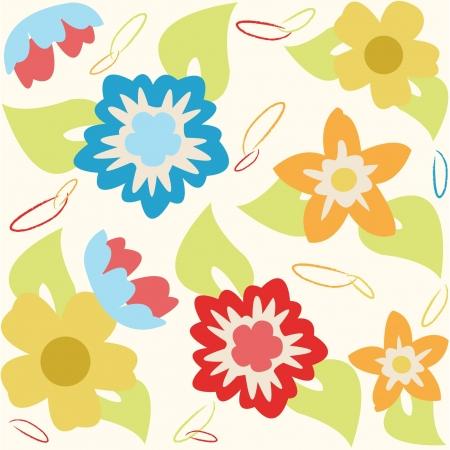 home fashion: Spring flower print pattern Illustration
